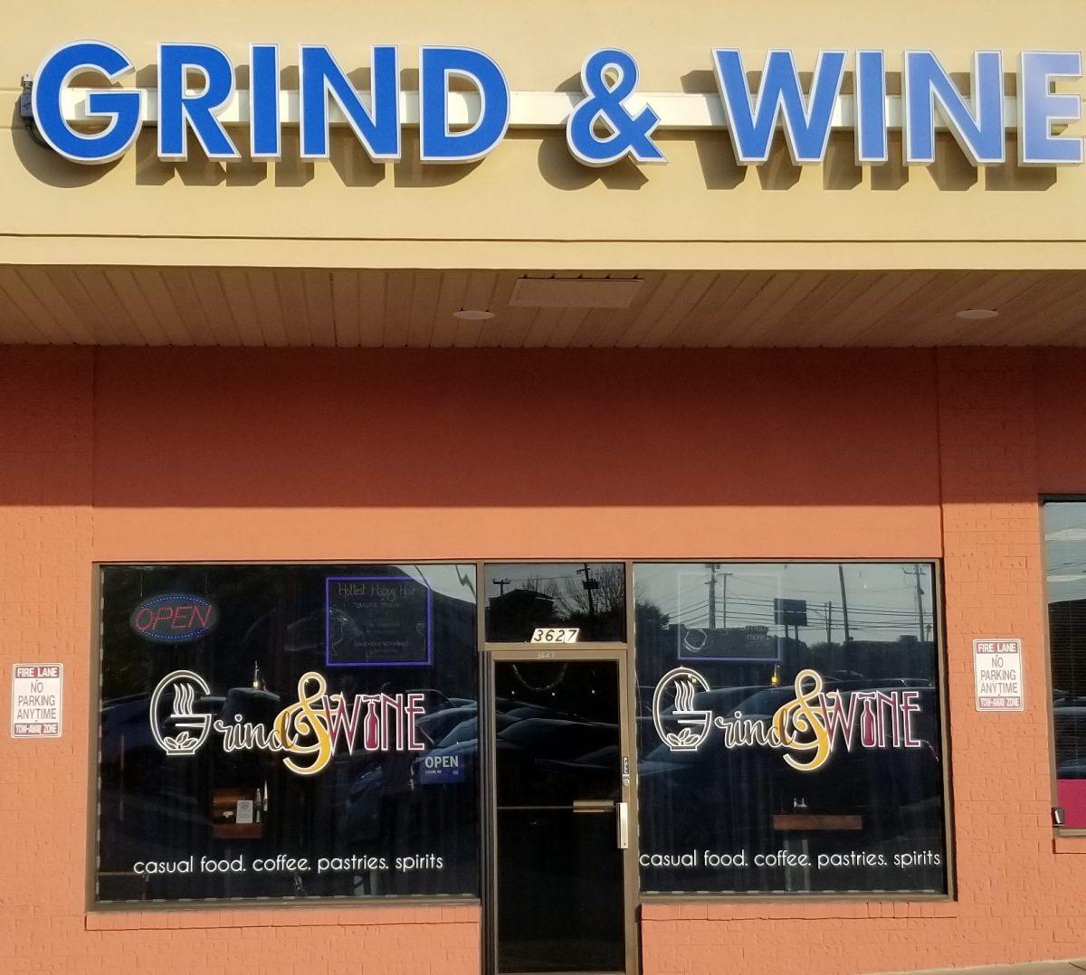 Exterior of Grind & Wine