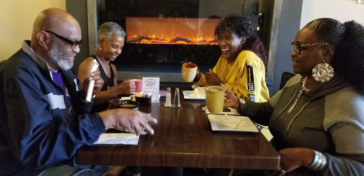 Grind & Wine guest Dr. Catherine Huggins-Gomes and Friends