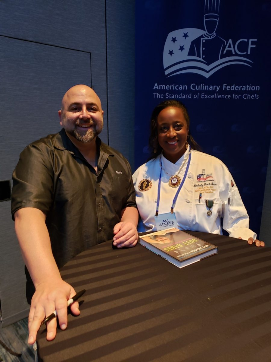 Kimberly Brock Brown with Duff Goldman from Ace of Cakes