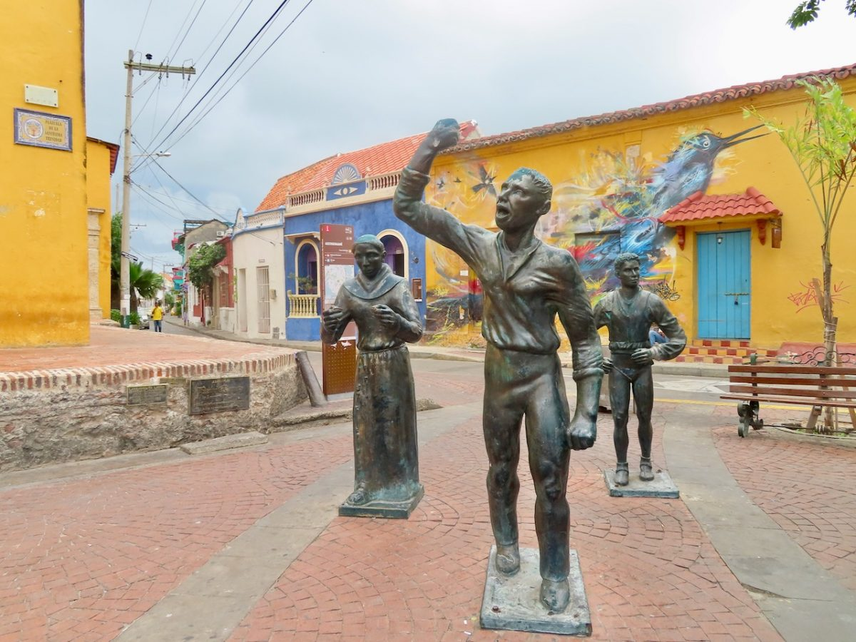 Statues in Cartegena, Colombia