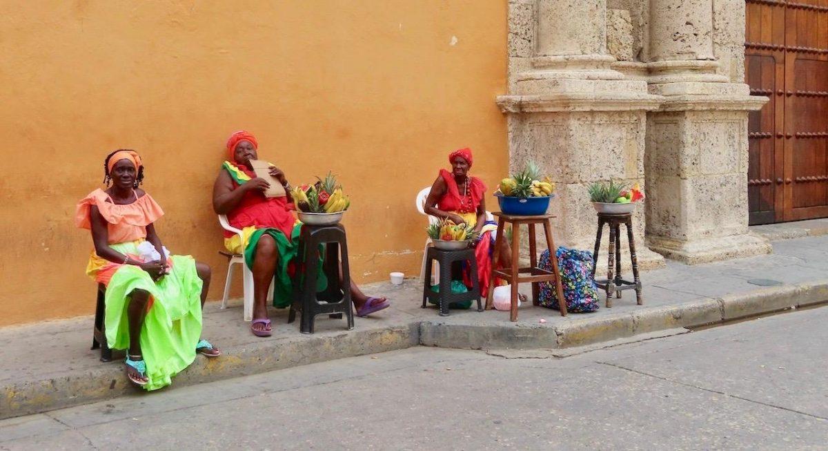 Women of San Basilio de Palenque in Colombia