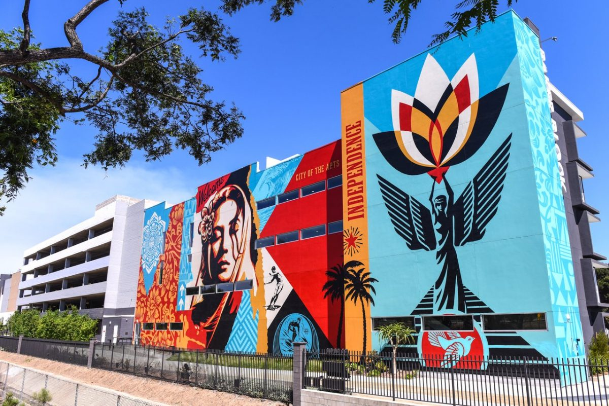 Welcome Home by Shepard Fairey Costa Mesa