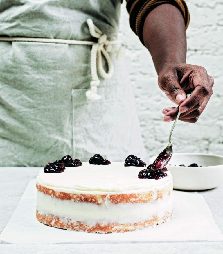 Cardamom Cake with Mulled Wine Jam