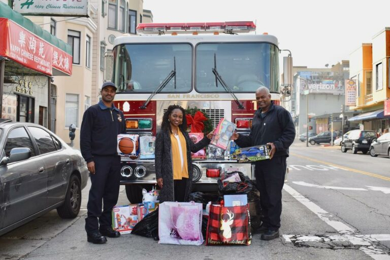 Festival at Sea Founder Patricia Yarbrough and SF Black Firegfighters