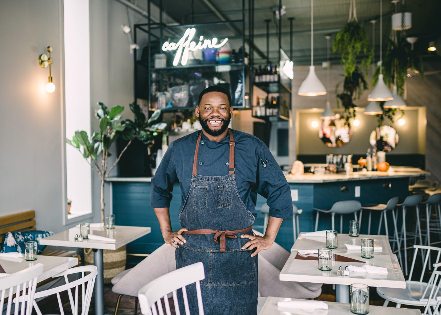 Chef Kendall Shephard of Naive in Louisville , KY