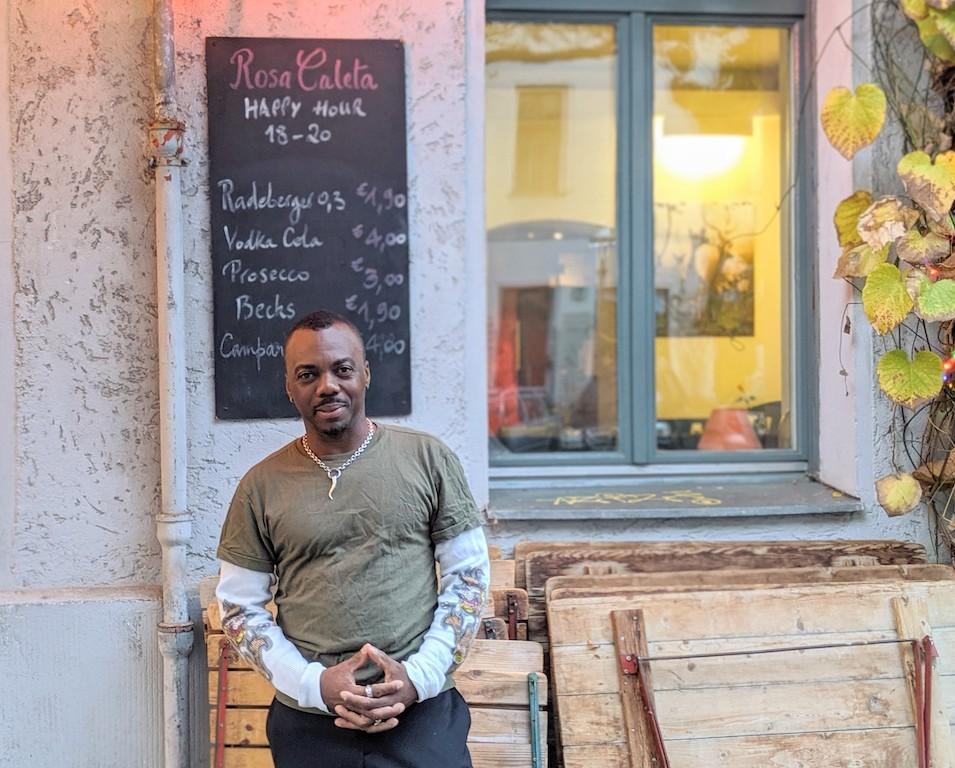 Co-owner Kirk Henry of RosaCaleta in Berlin, Germany