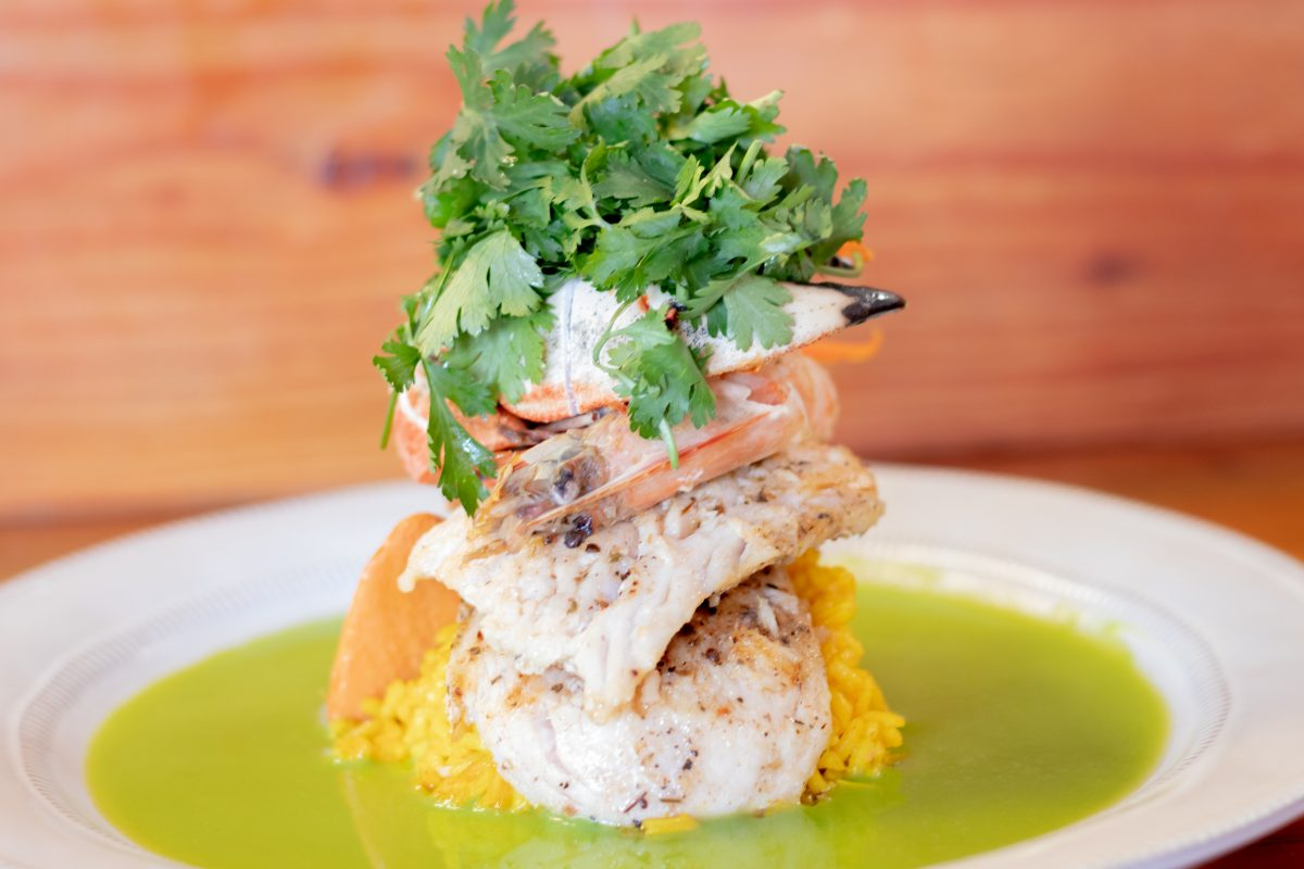 Seafood dish by Chef Carl Williams