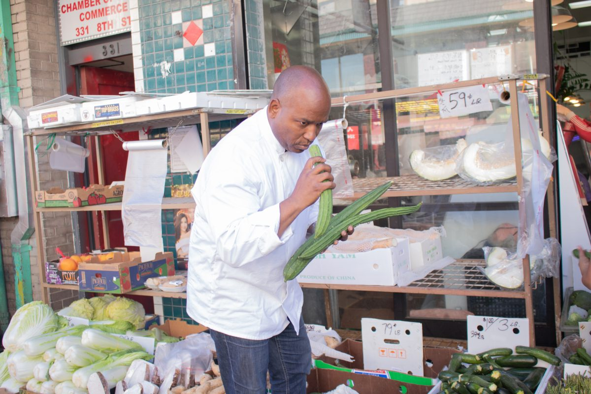 Chef Carl William source ingredients in Chinatow