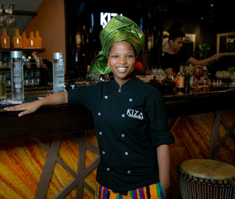 Chef Kuhle Swana of KIZA in Dubai