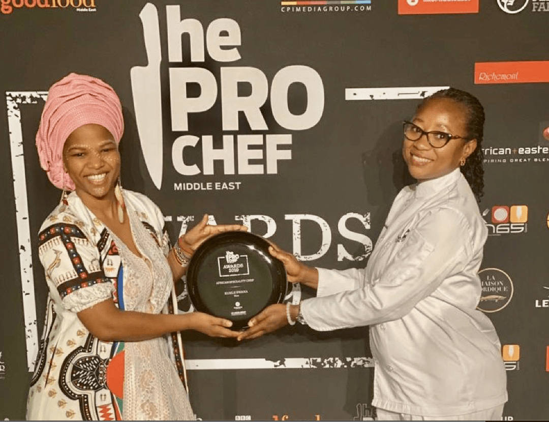 Chef Swana with Chef Oniola of KIZA in Dubai