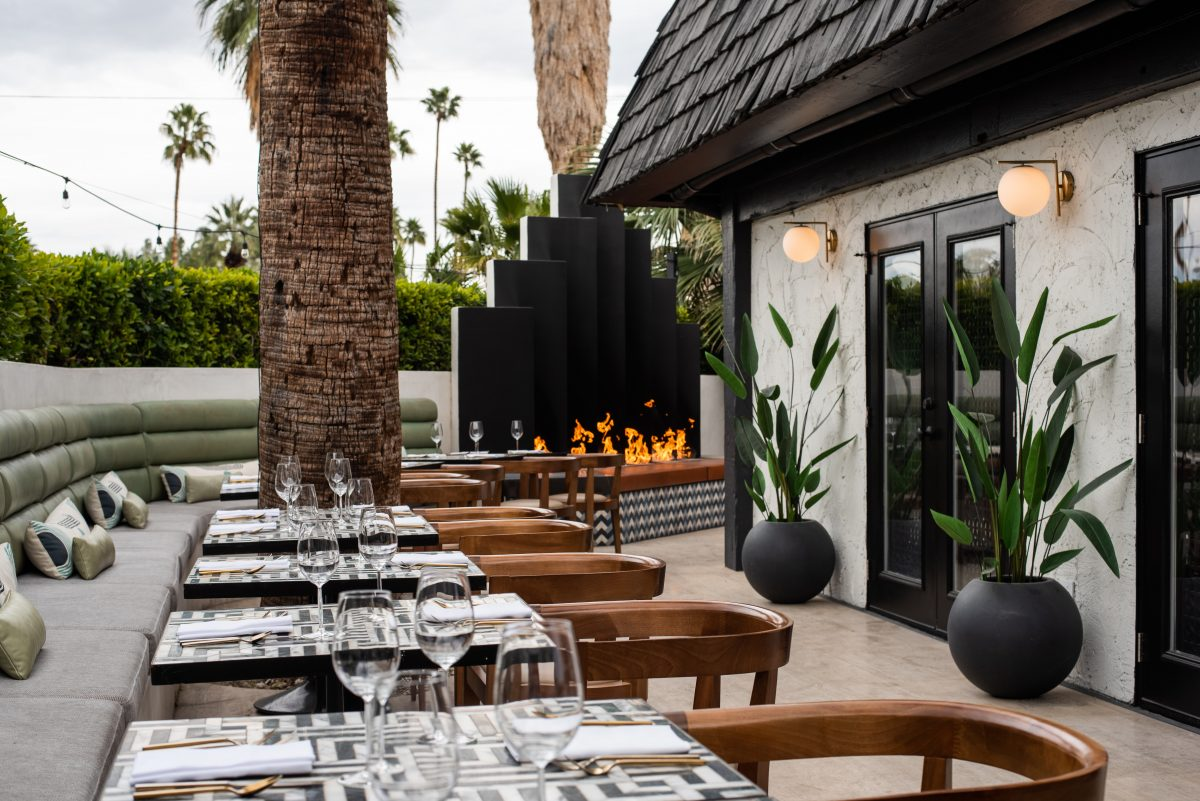 Patio of Mr. Lyons in Palm Springs