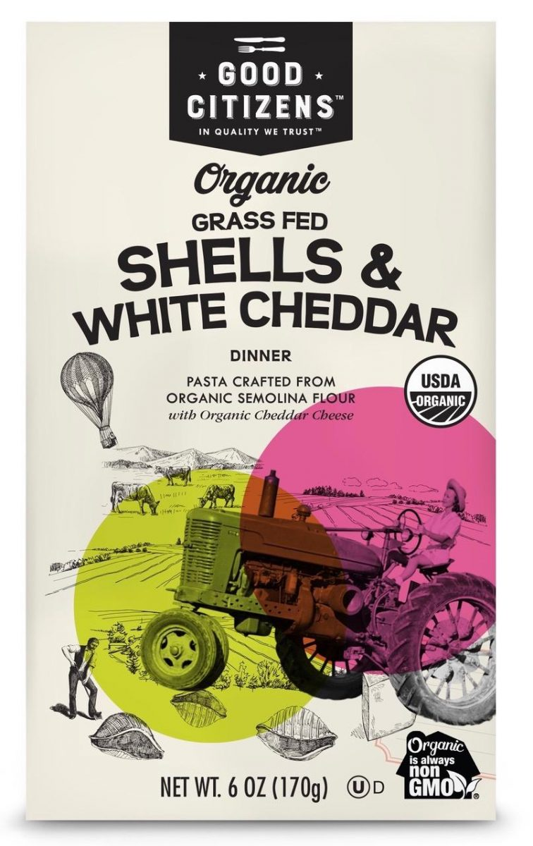 Good Citizens Organic Grass Fed Shells & White Cheddar