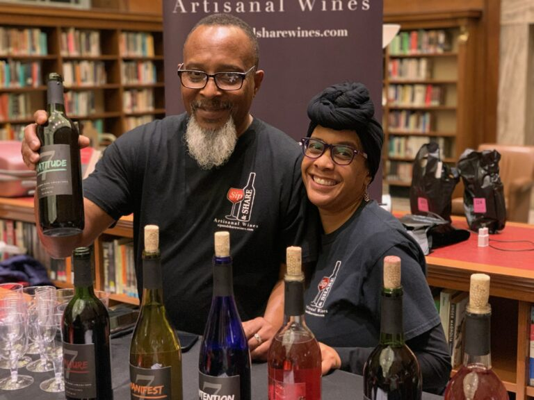 Nicole Kearney and Friend at wine tasting for Sip & Share Wines