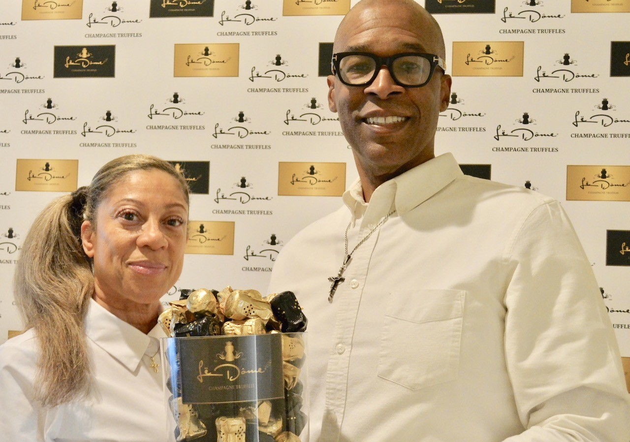 Joel and Kharye Davis of Le Dome Celebration Champagne Truffles