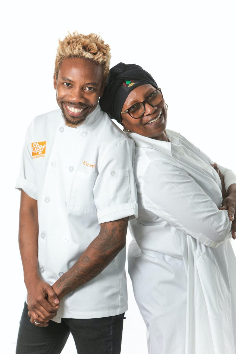 Chef Ed Harris and His Mother Faye Harris