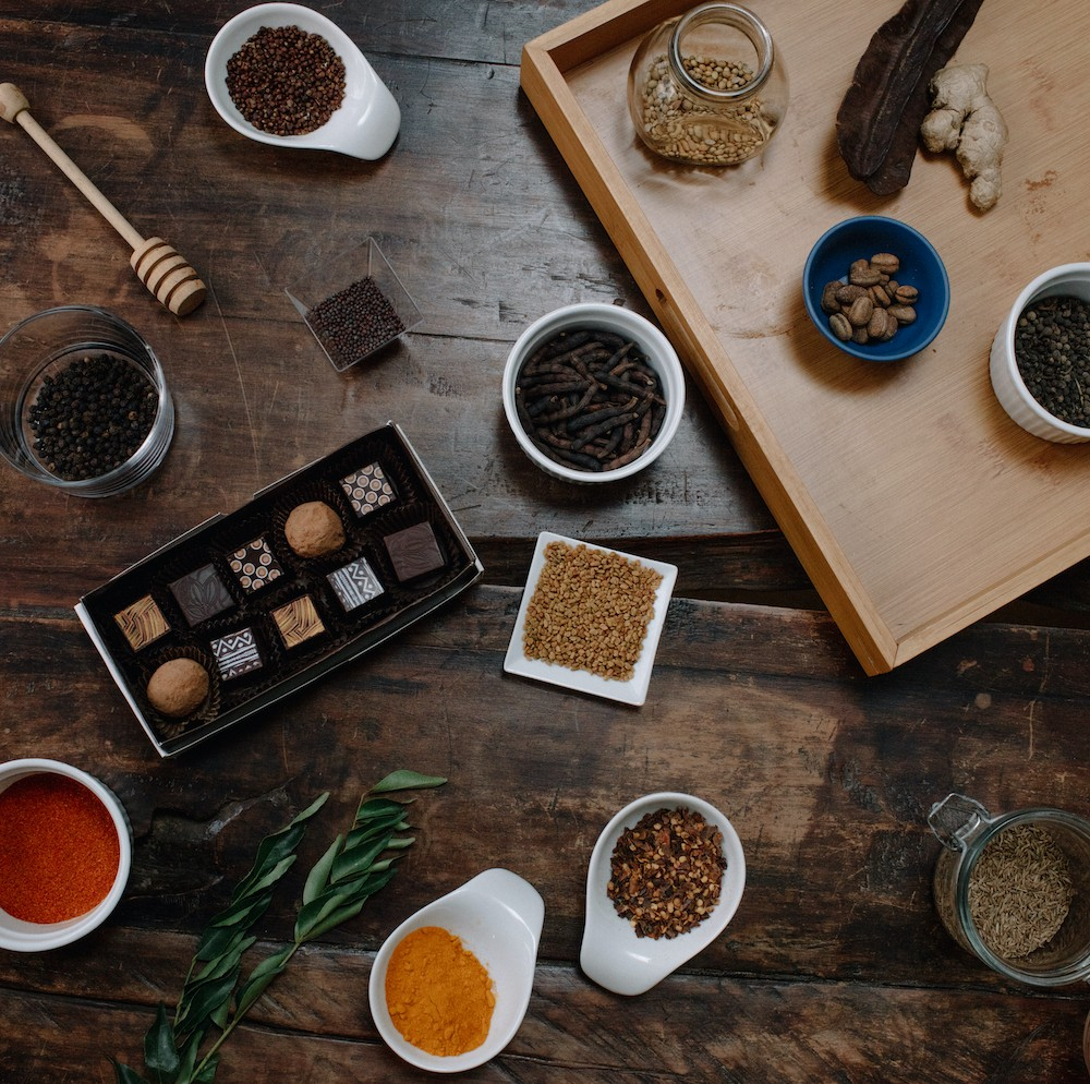 African spices and Midunu chocolates