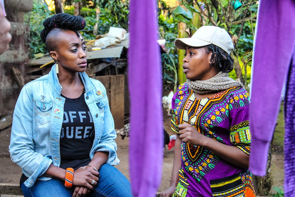Vava Angwenyi and one of the ladies sponsored through Gente Del Futuro
