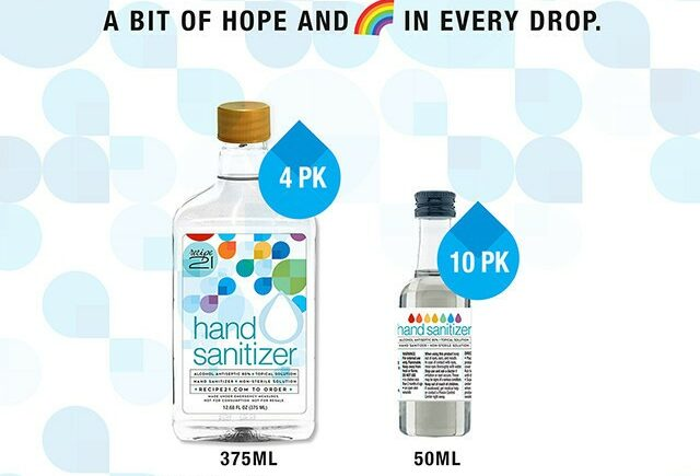 Recipe 21® Launches Hand Sanitizer Line to Help with COVID-19 Relief Efforts