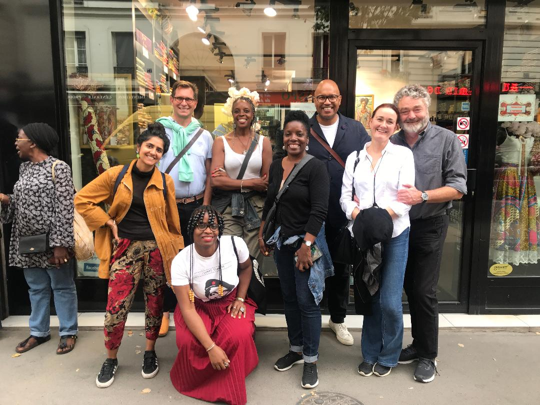 Little Africa tour group in Paris