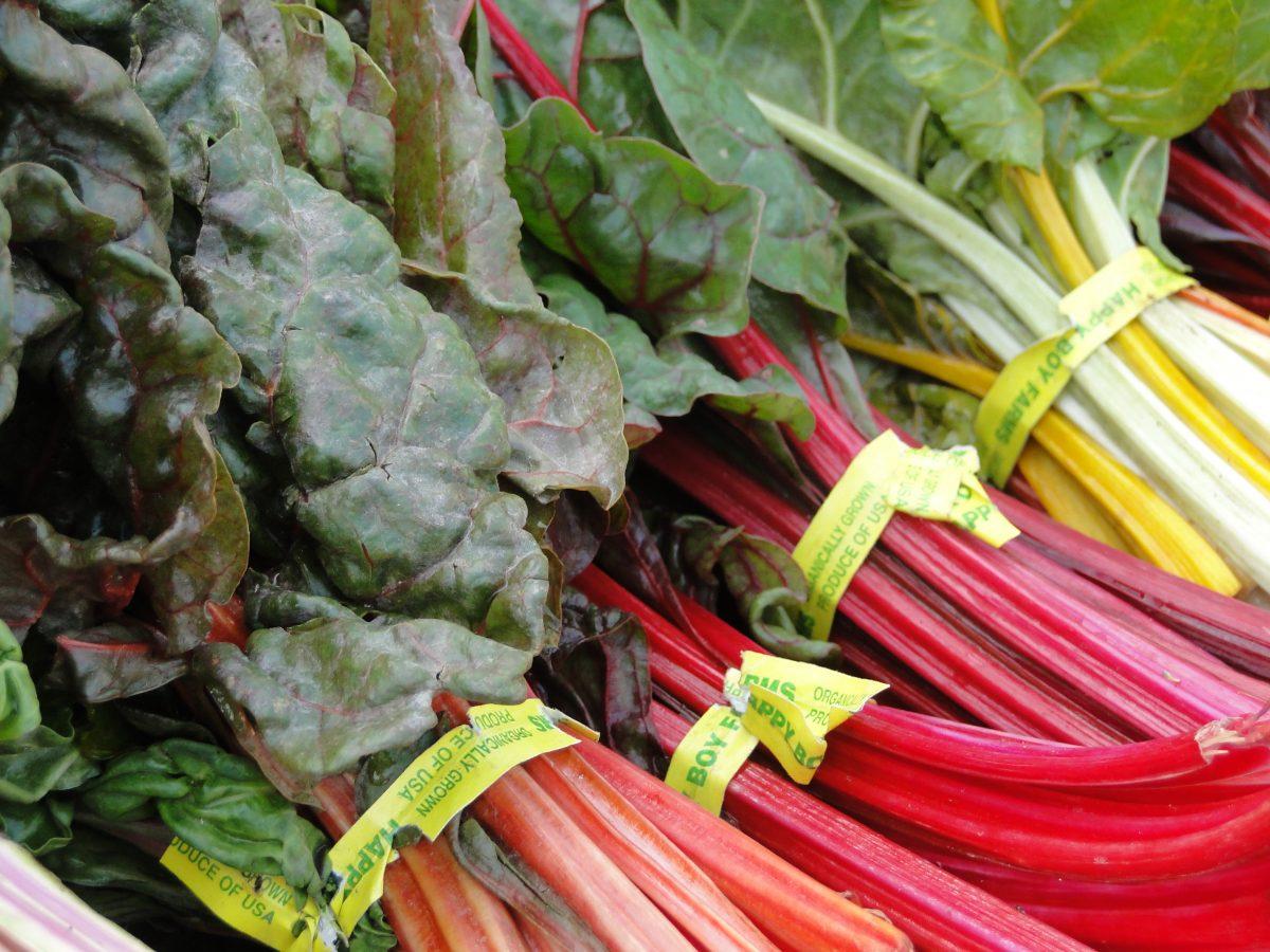 Rainbow chard at a farmer's market
