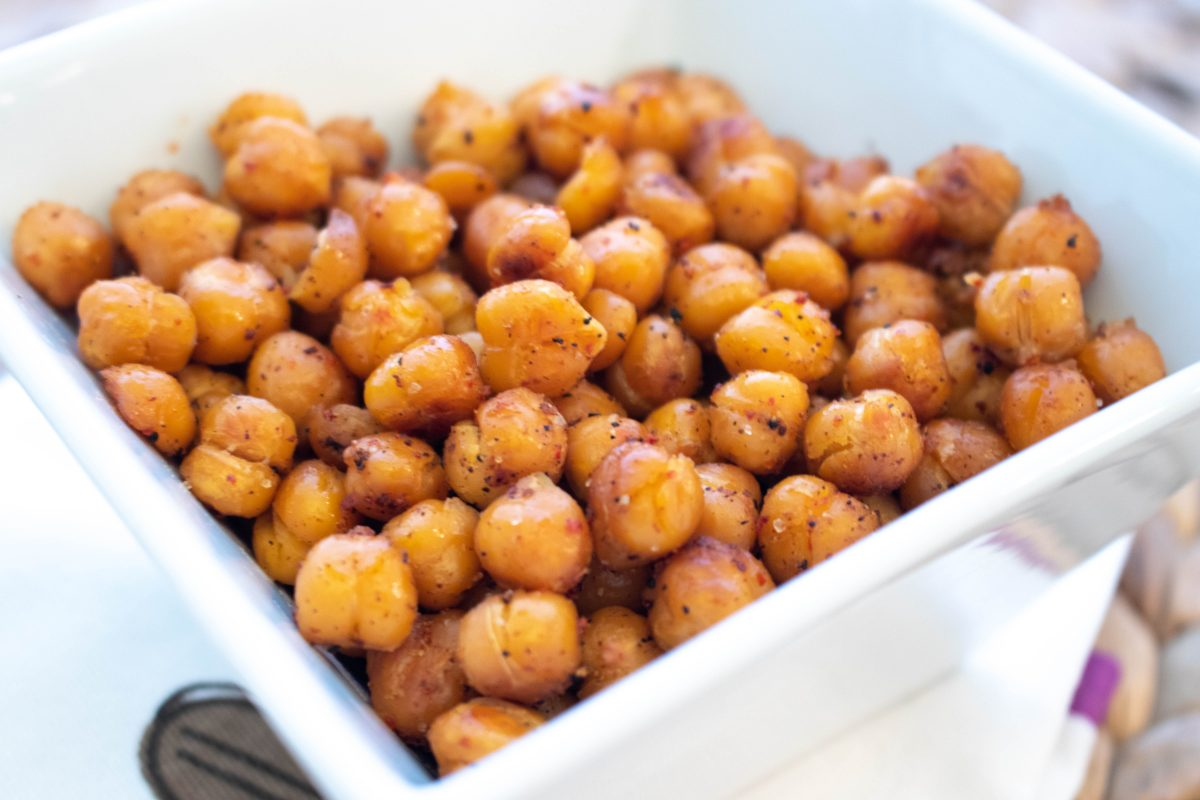 Roasted chili lime chickpeas