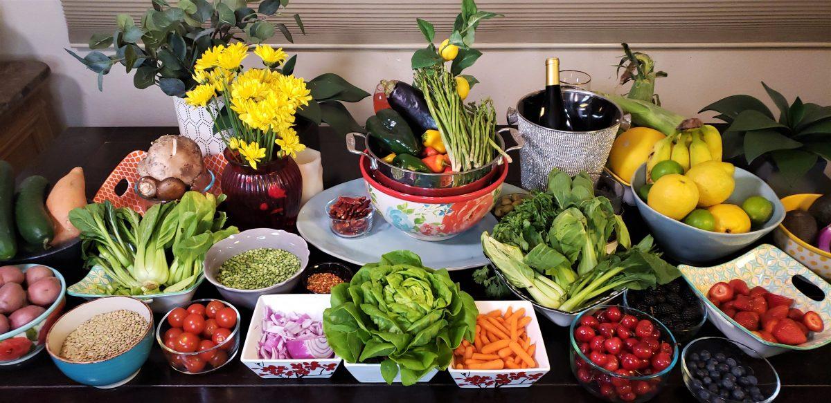 Veggies and fruits at house of Yolanda Whitaker