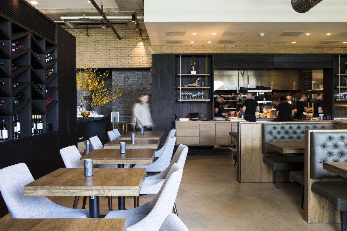 Restaurant interior Hestia in Austin, TX