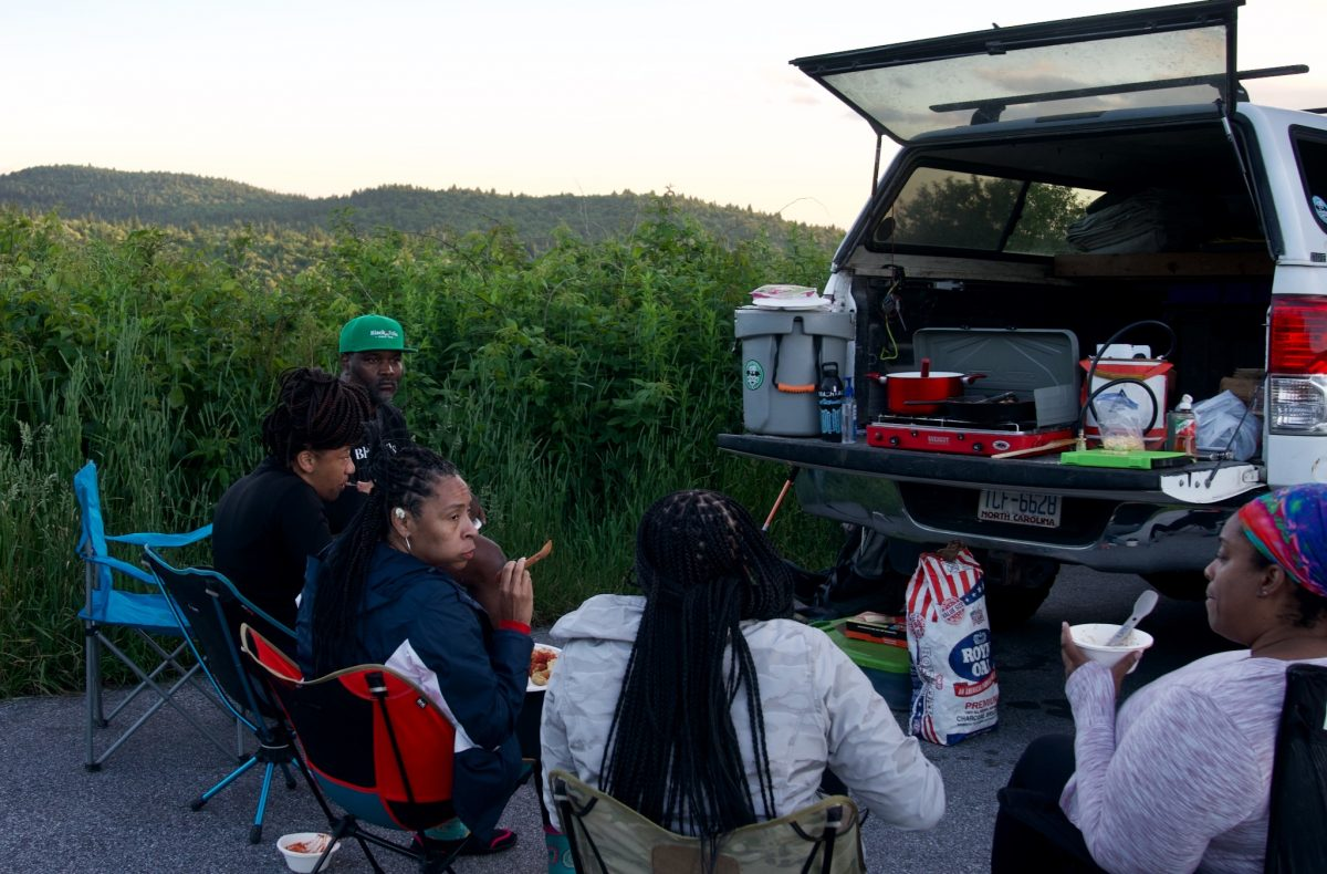Black Folks Camp Too campers eating