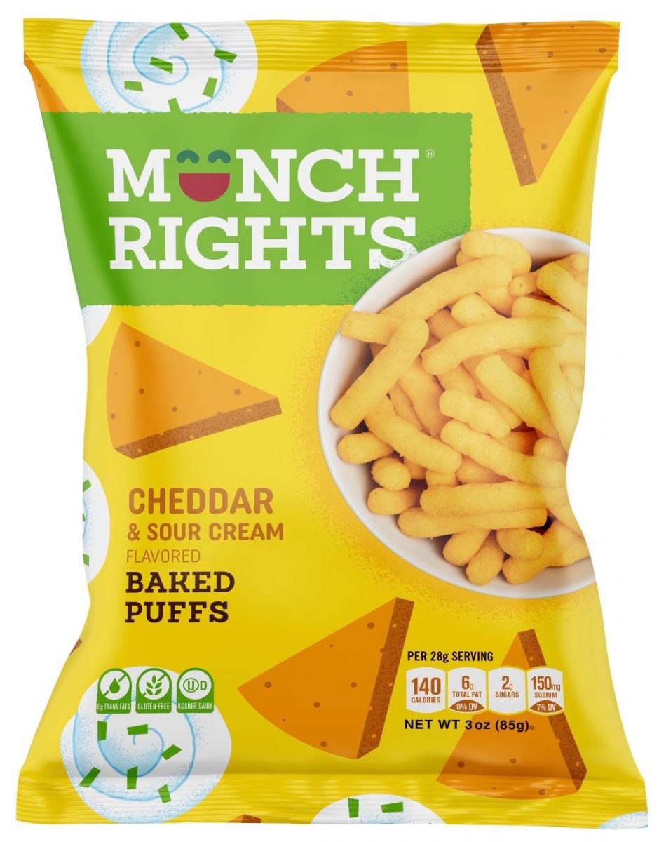Munch Rights Cheddar & Sour Cream Baked Puffs