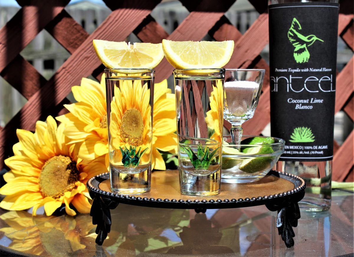 Drink with Anteel Tequila's Coconut Lime