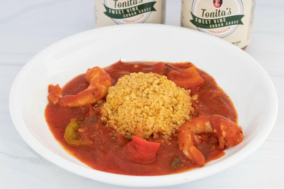 Tonita's Kitchen Sofrita Shrimp and Quinoa