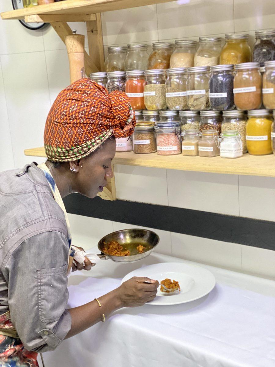 Maame Boakye cooking