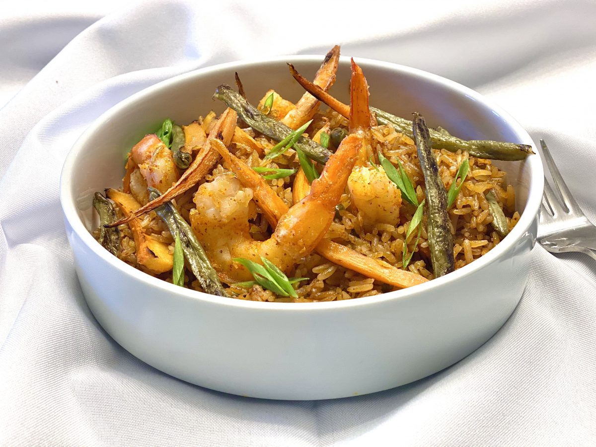 Shrimp and Vegetable Jollof by Chef Maame Shrimp and Vegetable Jollof