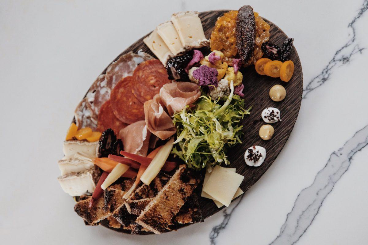 Food platter by Travis Watson of Hotel Californian