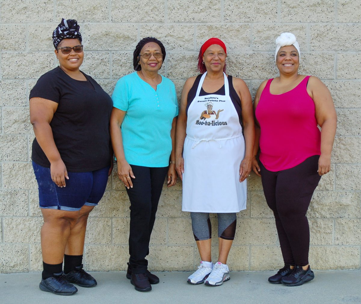 Booboo's team Salisha, Linda, Cynthia, Nicole