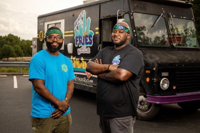What the Fries team Jamie Barnes and Greg Williams