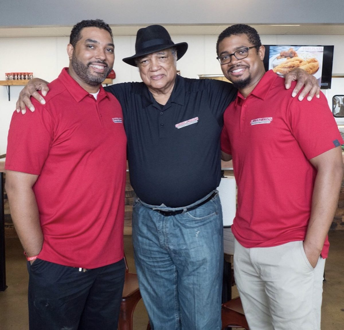 Smokey John's Bar-B-Que owners Brent and Juan with their father