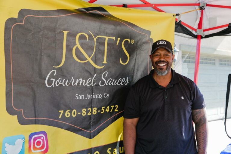 Achilles Murray of J & T's Gourmet Sauces