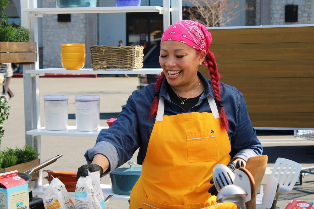 Chef Leilani Baugh Cooking, as seen on Supermarket Stakeout, season 2.