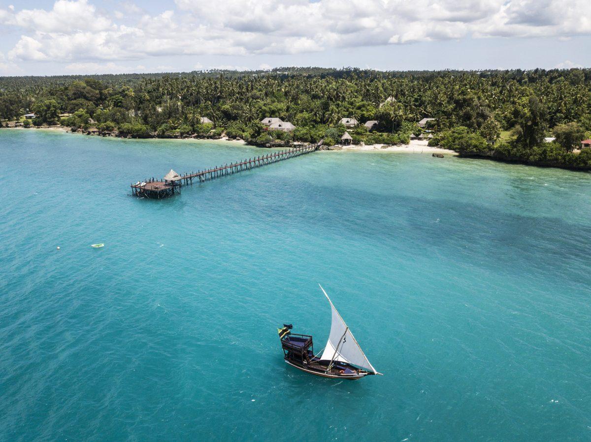 Aerial view of Zanzi Resort