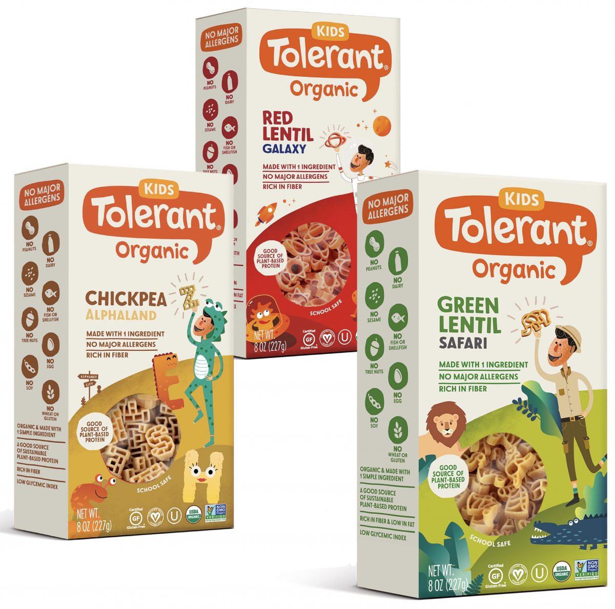 Tolerant Organic Pasta