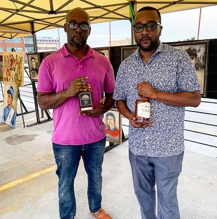 Kelvin Young and Djuan Ditto of Legacy Wine and Spirits