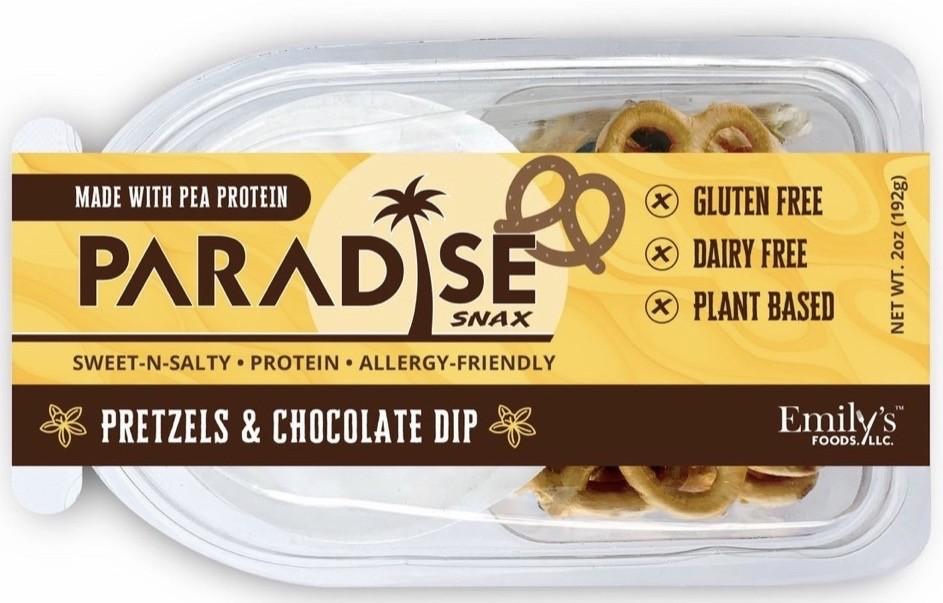 Paradise Snax Pretzels & Chocolate Dip