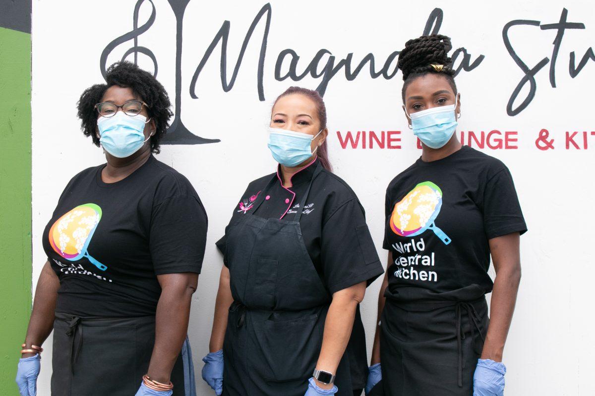 Leilani Baugh with Magnolia Street Team