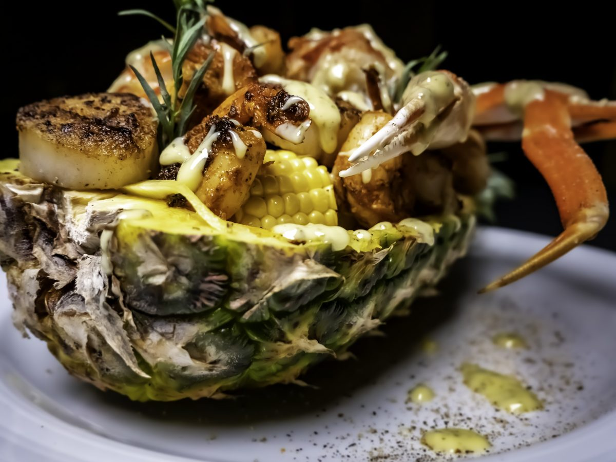 Pineapple bowl at Celebrity's Soul Food