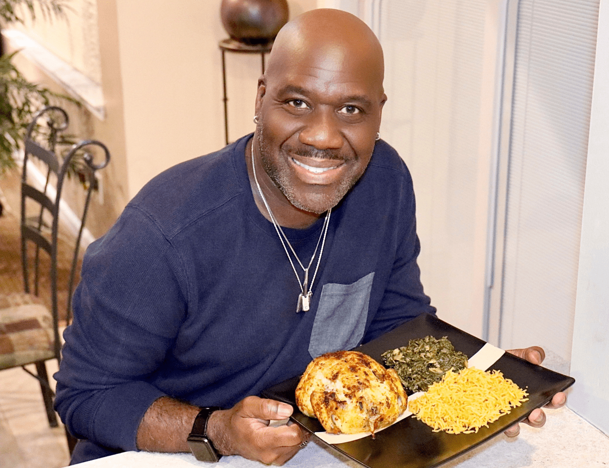 Will Downing with a cooked meal