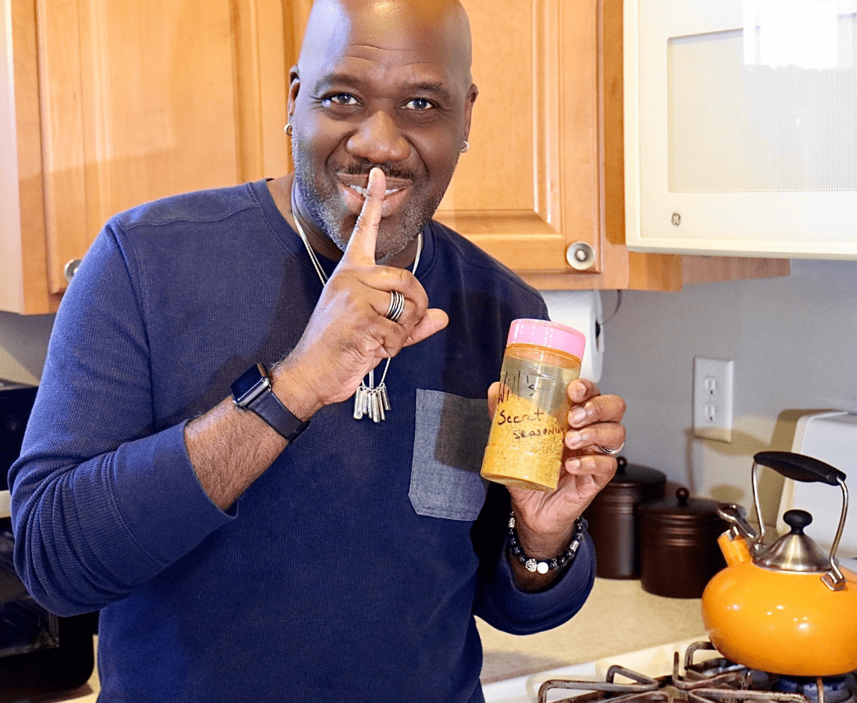 Will Downing with his secret seasoning