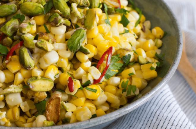 Sweet Corn with Wonderful Pistachios