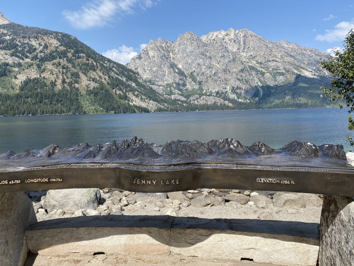 Jenny Lake hiking trail at Grand Tetons