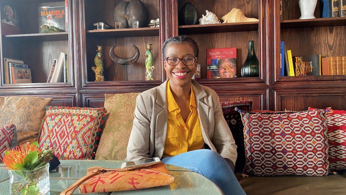 Nzeka Biyela, co-founder of MOOD Gin